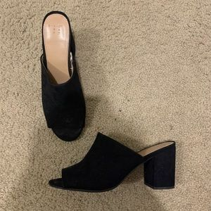 Black slip on heels